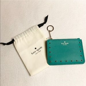 AUTH. KATE SPADE BITSY LIZARD STUDDED WALLET BNWT